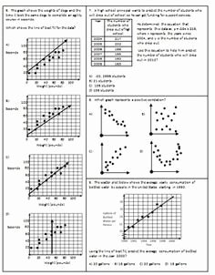 Scatter Plot Worksheet with Answers Awesome Scatter Plot Correlation and Line Of Best Fit Exam Mrs