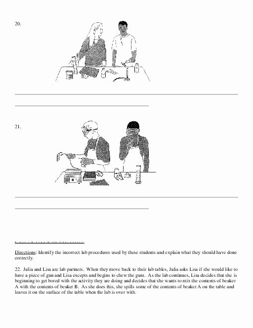 Science Lab Safety Worksheet Awesome 10 Best Of School Safety Worksheets Printable Bus