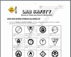 Science Lab Safety Worksheet Beautiful Science Lab Safety Activity