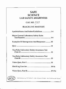 Science Lab Safety Worksheet Best Of Safe Science Lab Safety Awareness 8th 12th Grade
