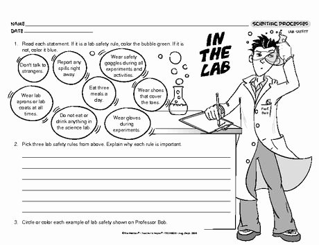 Science Lab Safety Worksheet Fresh In the Lab Lesson Plans the Mailbox Science