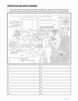 Science Lab Safety Worksheet Inspirational Lab Safety Review Worksheets Editable by Tangstar