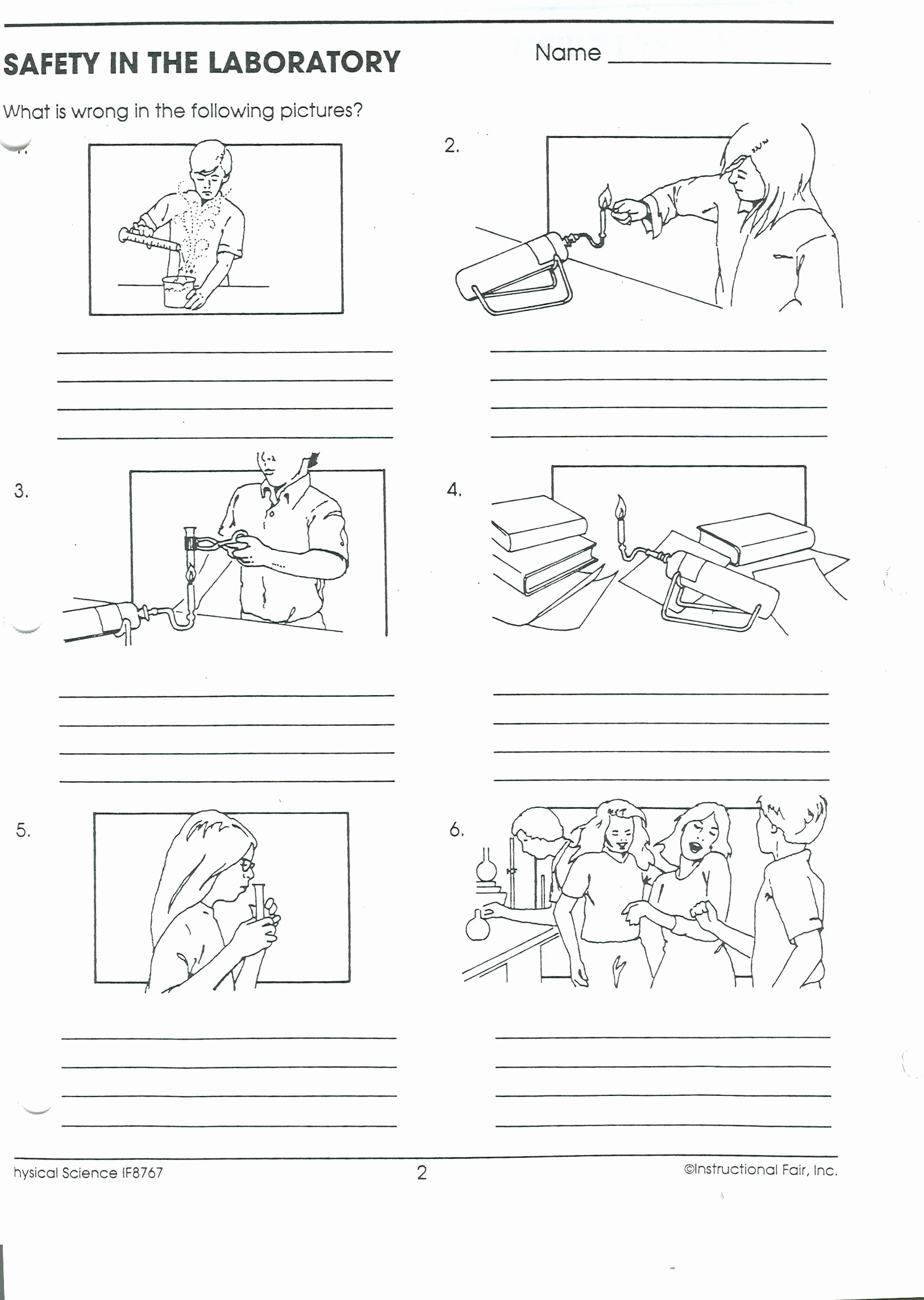 Science Lab Safety Worksheet New Science Class Line
