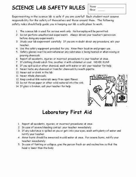Science Lab Safety Worksheet Unique Lab Report for Kids Template