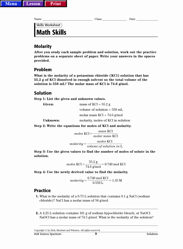 Science Skills Worksheet Answer Key Awesome Holt Rinehart and Winston Worksheet Answers Geo