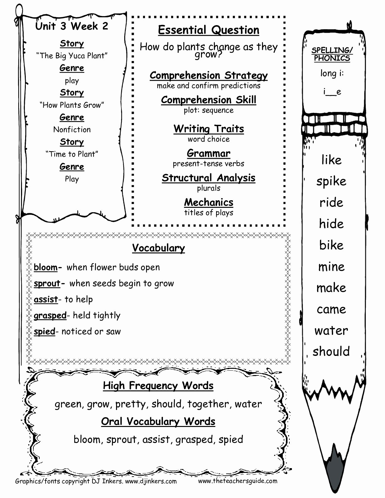 Science Worksheet for 1st Grade Best Of Wonders First Grade Unit Three Week Two Printouts