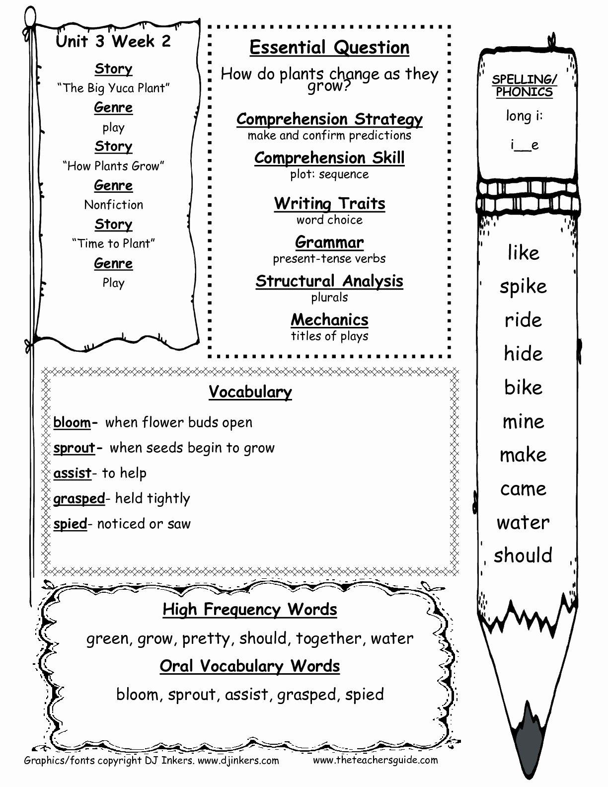 Science Worksheet for 1st Grade Best Of Wonders First Grade Unit Three Week Two Printouts
