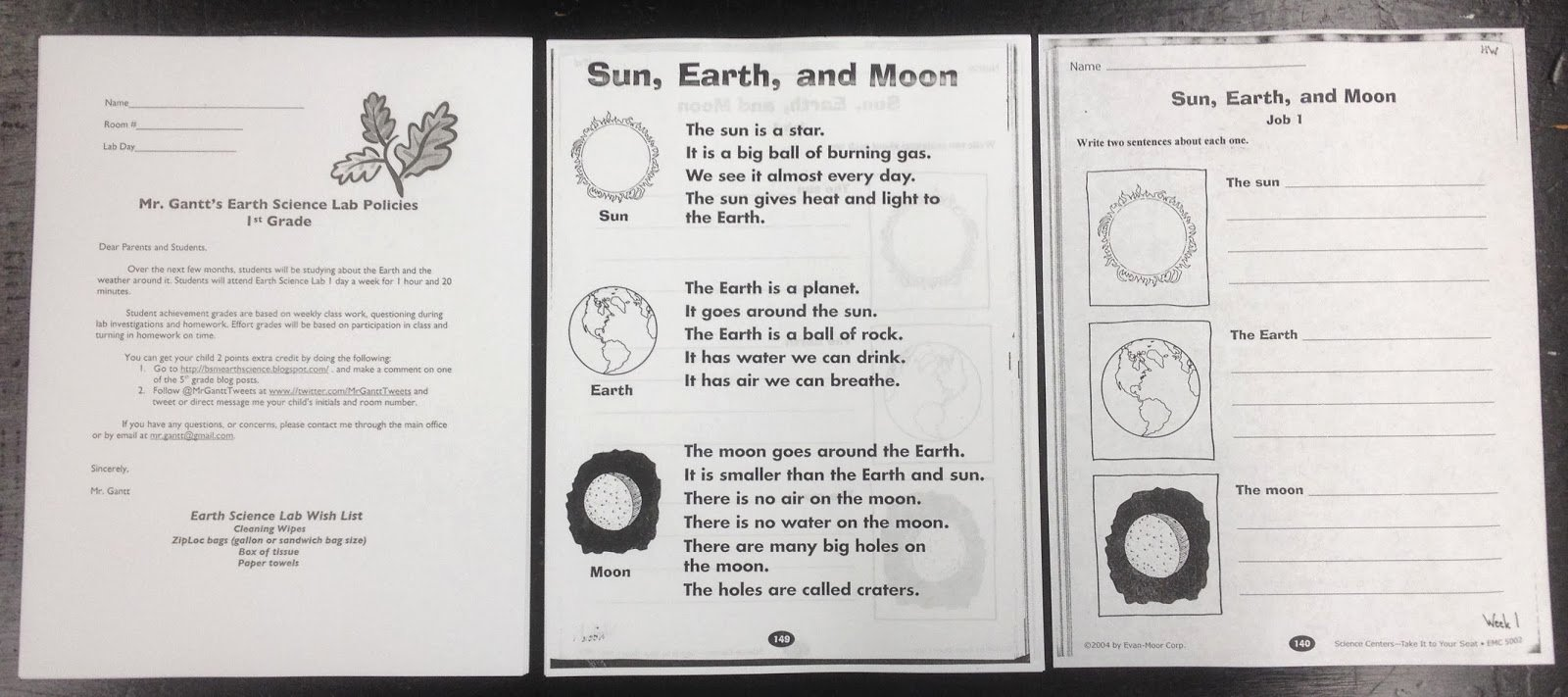 Science Worksheet for 1st Grade Luxury Mr Gantt S Earth Science Lab Blog 1st Grade Week 1 Sun