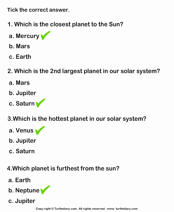 Science World Worksheet Answers Lovely Questions About the solar System Worksheet Turtle Diary