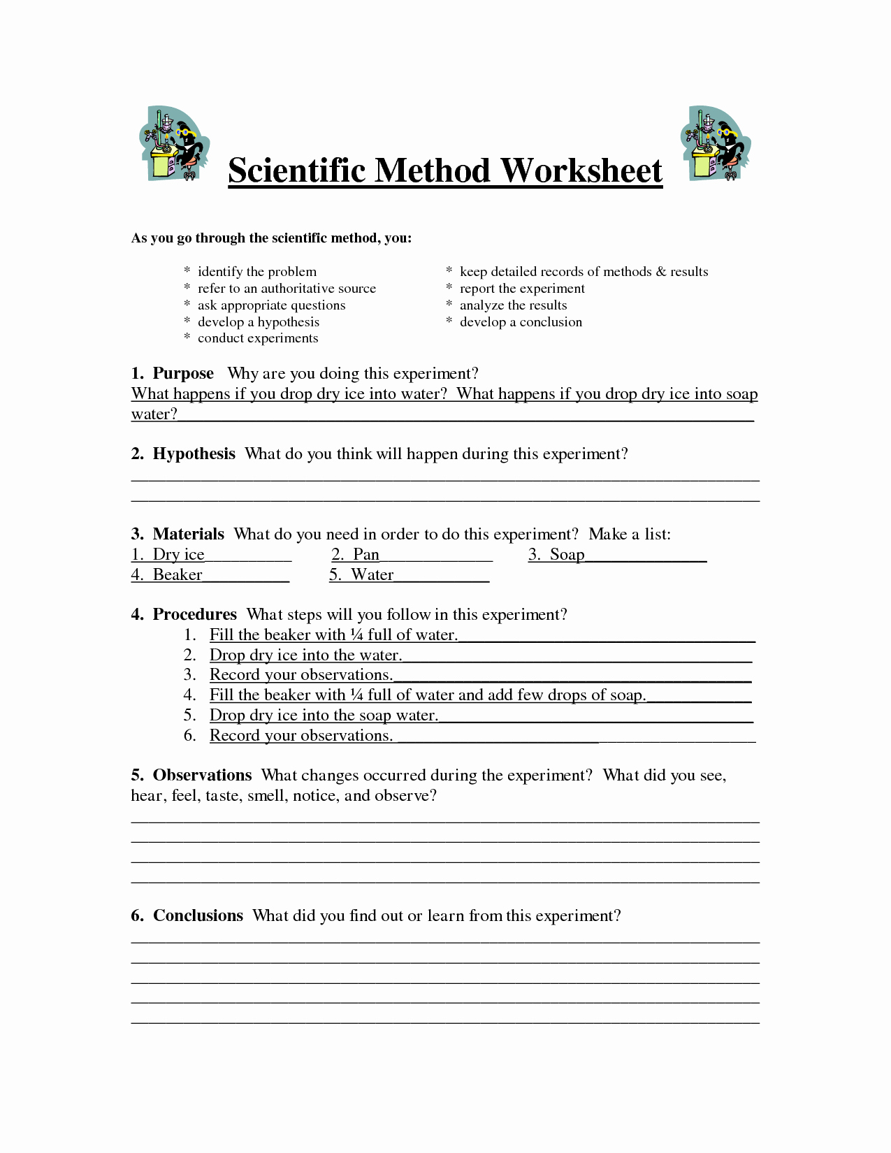 Scientific Method Examples Worksheet Beautiful the Scientific Method Worksheet Driverlayer Search Engine