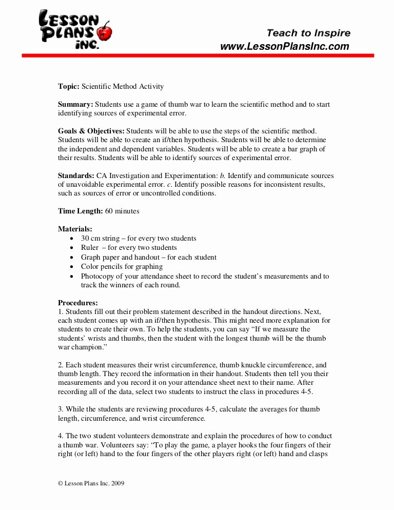 Scientific Method Examples Worksheet Elegant Scientific Method Worksheet