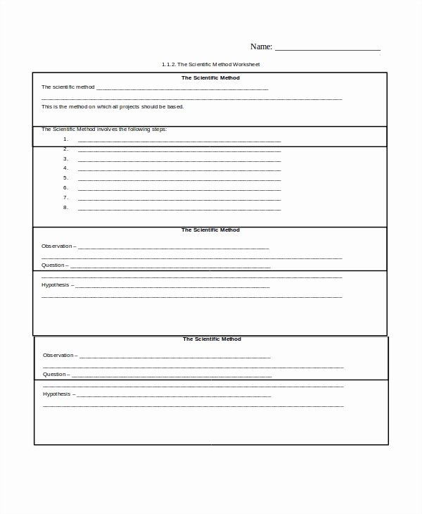 Scientific Method Examples Worksheet Inspirational Sample Scientific Method Worksheet 8 Free Documents