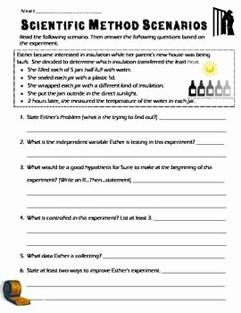 Scientific Method Examples Worksheet Luxury 4 Scientific Method Scenarios Review Concepts Steps