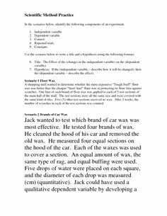 Scientific Method Practice Worksheet Beautiful Middle School Scientific Method Worksheet