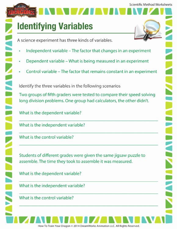 Scientific Method Practice Worksheet Inspirational Identifying Variables Worksheet – Printable for Scientific