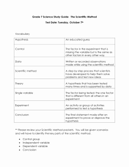 Scientific Method Review Worksheet Best Of Scientific Method Matching Worksheet