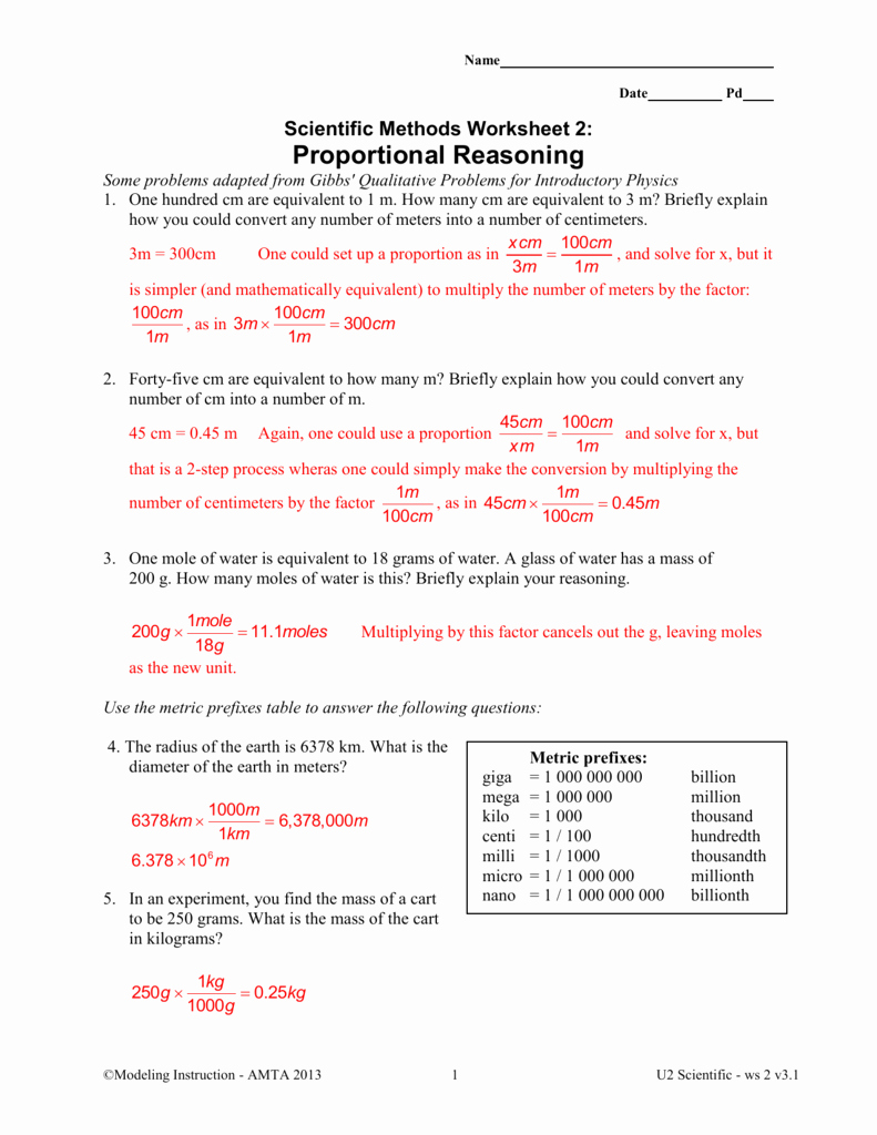 Scientific Method Review Worksheet Elegant Unit 8 Worksheet 1 Mole Relationships Answer Key