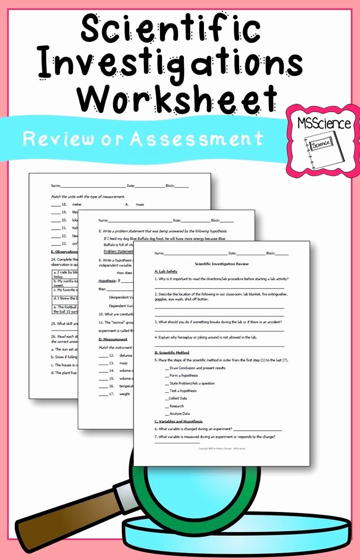 Scientific Method Review Worksheet Fresh Best 25 Scientific Method Worksheet Ideas On Pinterest
