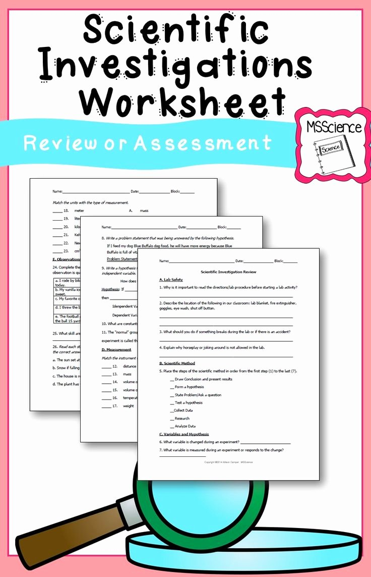 Scientific Method Review Worksheet New Best 25 Scientific Method Worksheet Ideas On Pinterest