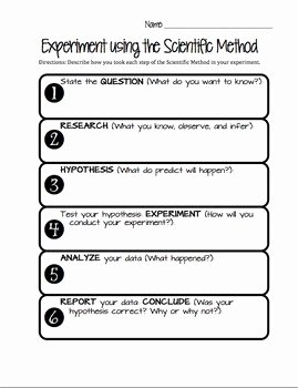 Scientific Method Steps Worksheet Awesome Scientific Method Worksheet by Jessica orth