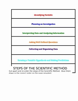 Scientific Method Steps Worksheet Luxury Science Fusion Steps Of the Scientific Method Cut and sort