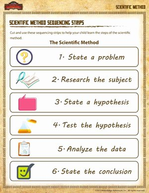 Scientific Method Steps Worksheet New Scientific Method Sequencing Strips Science Resources sod