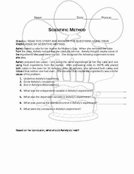 Scientific Method Story Worksheet Answers Beautiful Students Will Read the Story and Answer Questions