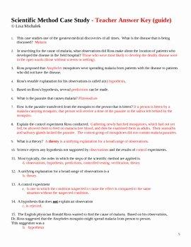 Scientific Method Story Worksheet Answers Fresh Scientific Method Case Study by Lisa Michalek