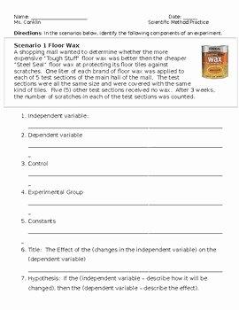 Scientific Method Story Worksheet Answers Inspirational Scientific Method Worksheet by ask why