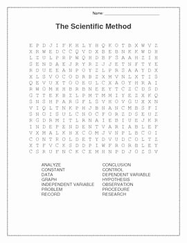Scientific Method Story Worksheet Answers Luxury Scientific Method Word Search and the Step On Pinterest