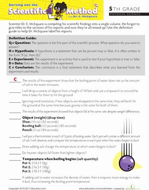 Scientific Method Worksheet 4th Grade Best Of the Scientific Method Worksheet
