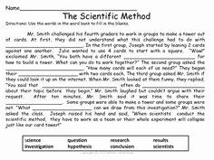 Scientific Method Worksheet 4th Grade Fresh Scientific Method Test or Quiz Free Inquiry