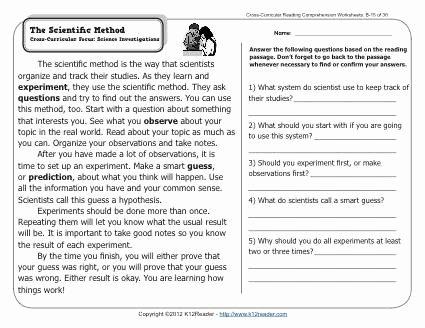 Scientific Method Worksheet 4th Grade New 11 Best Of Scientific Method Worksheets for 6th