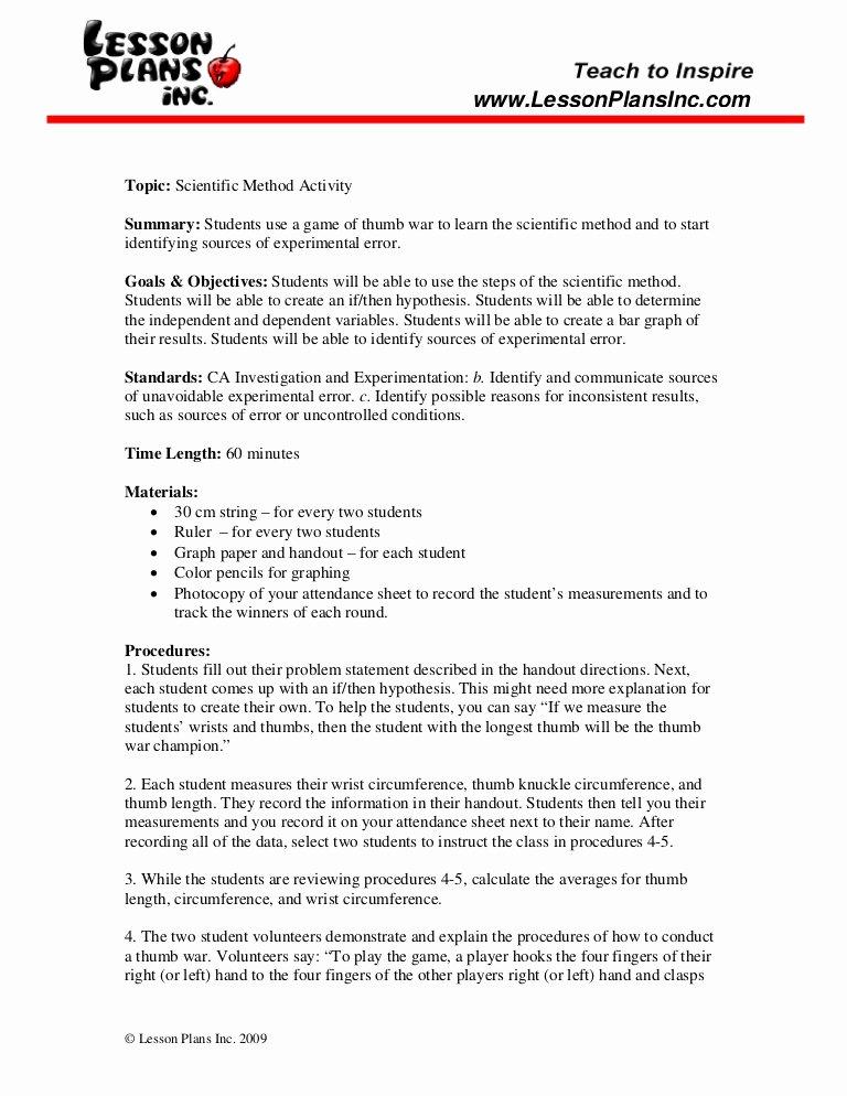 Scientific Method Worksheet 4th Grade New Scientific Method Worksheet