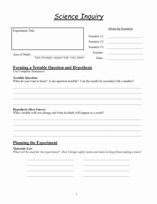 Scientific Method Worksheet 4th Grade Unique Science Inquiry Worksheets Glen S Gizmos