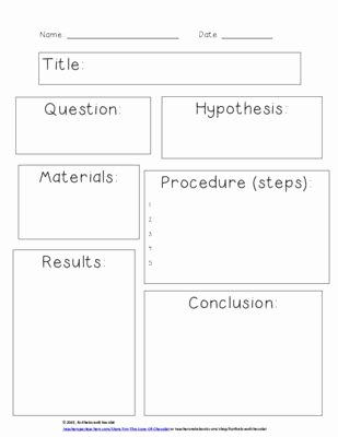 Scientific Method Worksheet 5th Grade Fresh Scientific Method Simple Worksheet From