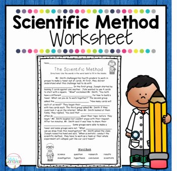 Scientific Method Worksheet 5th Grade Fresh Scientific Method Worksheet by White S Workshop