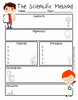 Scientific Method Worksheet 5th Grade Fresh Scientific Method Worksheet Pdf English Método Cientfico