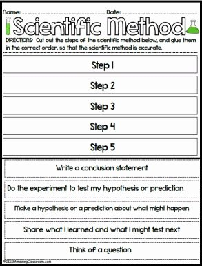 Scientific Method Worksheet 5th Grade Lovely Scientific Method Worksheets for 2nd Grade the Best