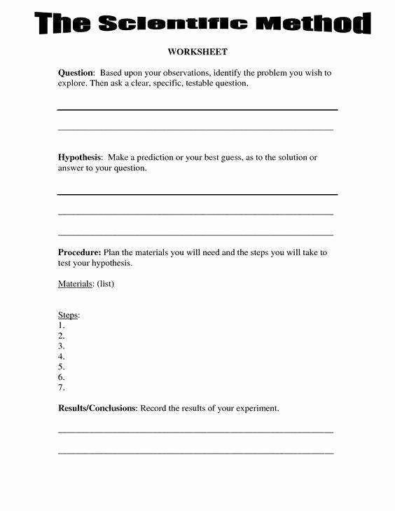 Scientific Method Worksheet 5th Grade Luxury Scientific Method Worksheet Answers