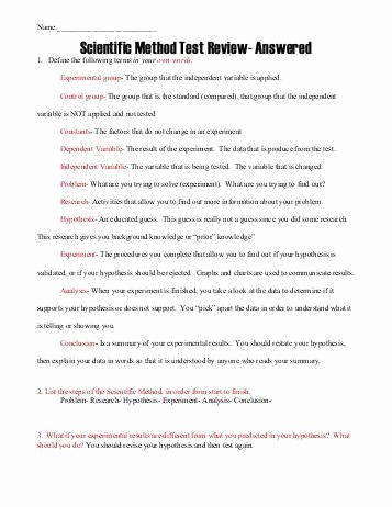 Scientific Method Worksheet Answer Key Beautiful Scientific Method Worksheet Answers