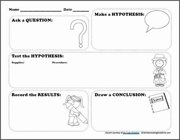 Scientific Method Worksheet Elementary Beautiful Free Scientific Method Worksheet for Kids