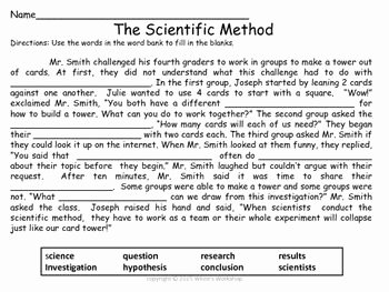 Scientific Method Worksheet High School Awesome Scientific Method Worksheet Free White S Workshop
