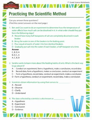 Scientific Method Worksheet High School Luxury Practicing the Scientific Method – Middle School Kid – sod