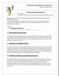 Scientific Method Worksheet High School Unique Hypothesis Worksheet Doc
