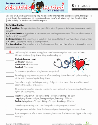 Scientific Method Worksheet Middle School Best Of sort Out the Scientific Method 1