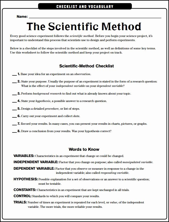 Scientific Method Worksheet Middle School Elegant Chsh Teach Science Experimentation and Investigation