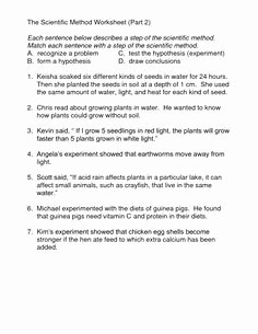 Scientific Method Worksheet Middle School Lovely Scientific Method Worksheet Free White S Workshop