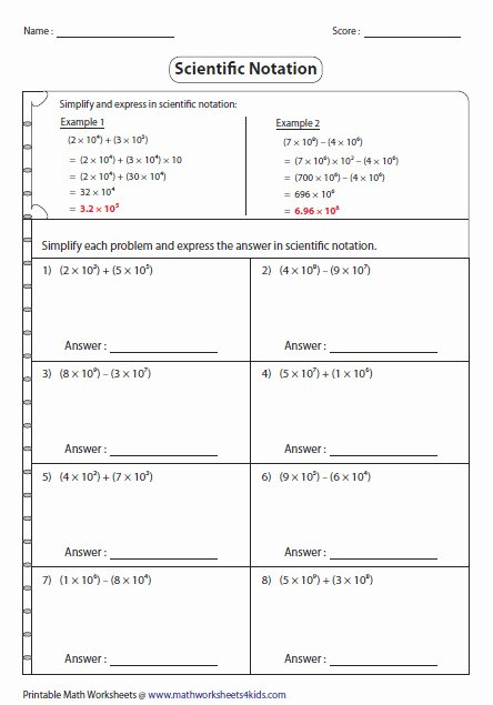 Scientific Notation Practice Worksheet Lovely Scientific Notation Word Problems Worksheet