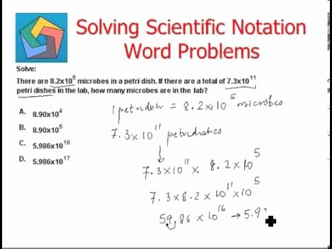 Scientific Notation Word Problems Worksheet Lovely solving Scientific Notation Word Problems